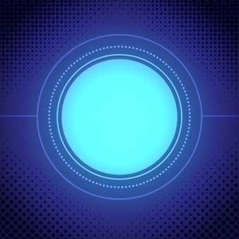 Fondo con círculo azul