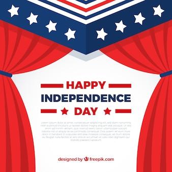 Fondo con cortinas para celebrar el día de la independencia