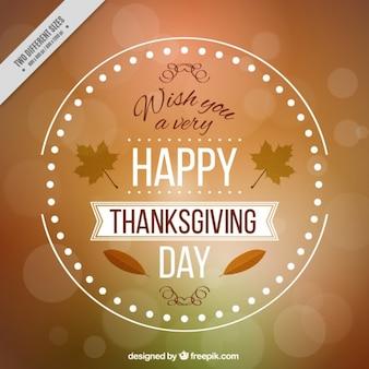 Fondo con desenfoque  para el día de acción de gracias