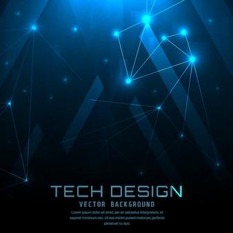 Fondo con diseño azul técnico