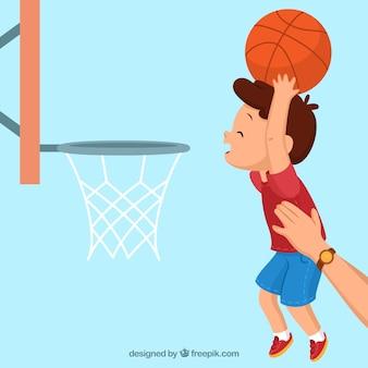 Fondo con diseño de baloncesto