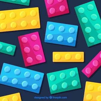 Fondo con diseño de bloques