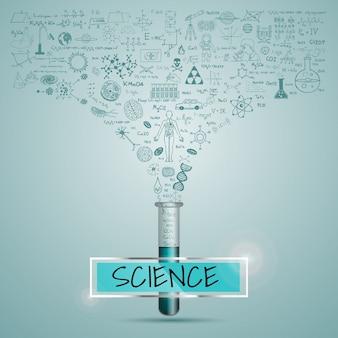 Fondo con diseño de ciencia