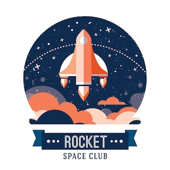 Fondo con diseño de cohete