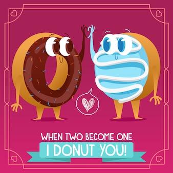 Fondo con diseño de donuts