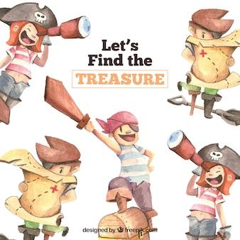 Fondo con diseño de encuentra el tesoro