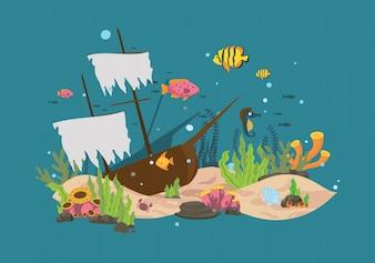 Fondo con diseño de fondo del mar