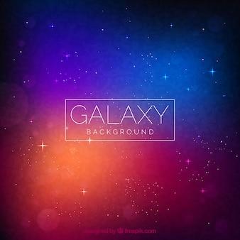 Fondo con diseño de galaxia