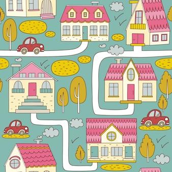 Fondo con diseño de ilustración de callejero