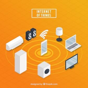 Fondo con diseño de internet de las cosas