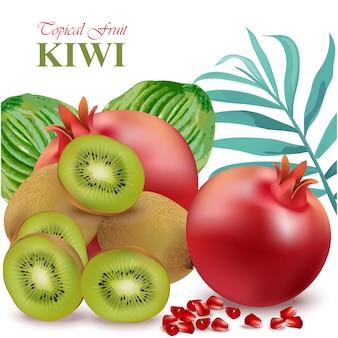 Fondo con diseño de kiwi