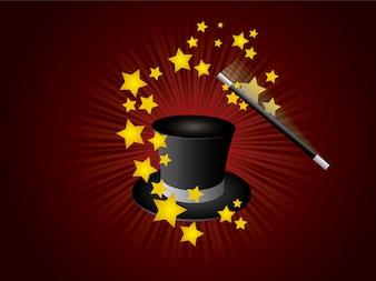 Fondo con diseño de mágia