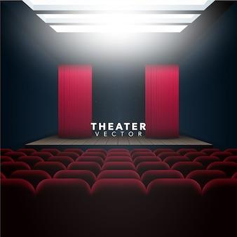 Fondo con diseño de teatro
