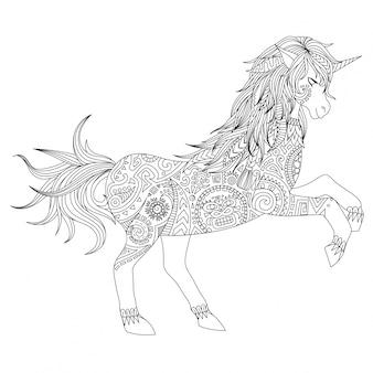 Fondo con diseño de unicornio