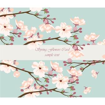 Fondo con diseño floral