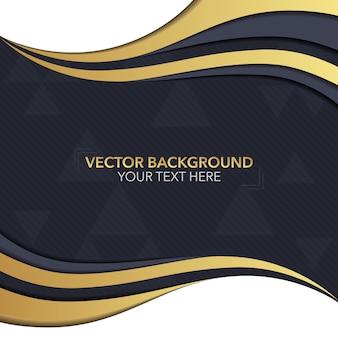 Fondo con diseño negro y dorado