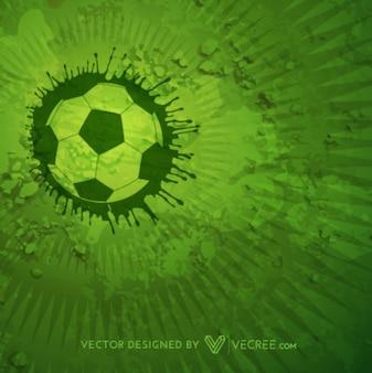 Fondo con el balón de fútbol