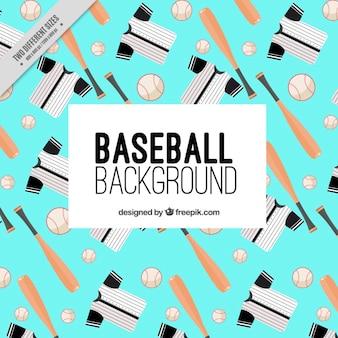 Fondo con elementos de béisbol
