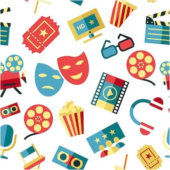 Fondo con elementos de cine