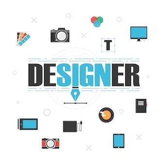 Fondo con elementos de diseño
