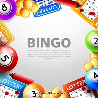 Fondo con elementos del bingo