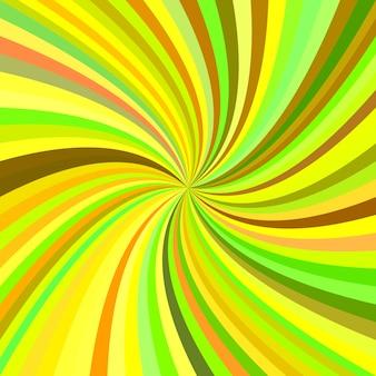 Fondo con espiral amarilla y verde