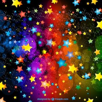 Fondo con estrellas de colores