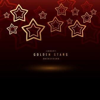 Fondo con estrellas doradas
