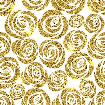 Fondo con flores doradas