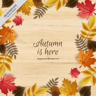 Fondo con hojas para celebrar el otoño