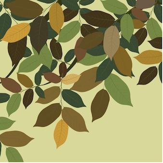 Fondo con hojas verdes