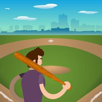 Fondo con jugador de beisbol