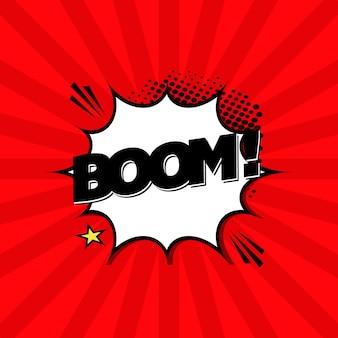 Fondo con la expresión boom