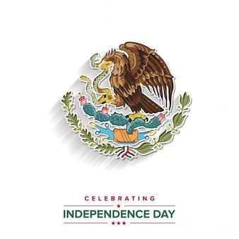 Fondo con la insignia de méxico para el día de la independencia