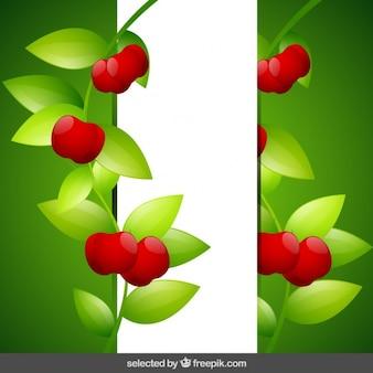 Fondo con las cerezas