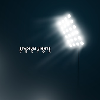Fondo con luces de estadio