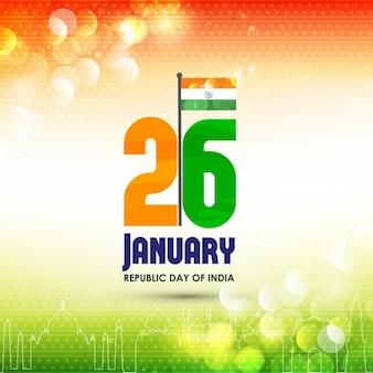 Fondo con luces, día de la república de la india