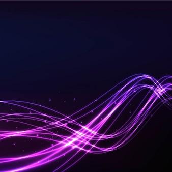 Fondo con luces onduladas púrpuras