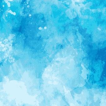 Fondo con manchas de acuarela azul