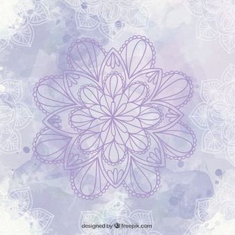 Fondo con mándala violeta