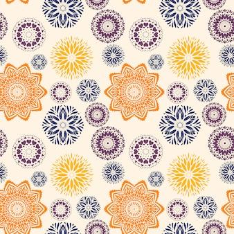 Fondo con mandalas de diferentes colores