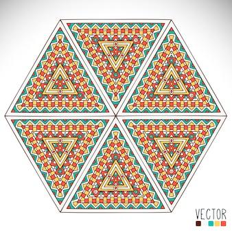 Fondo con mandalas en formas triangulares