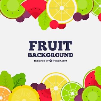 Fondo con marco de fruta
