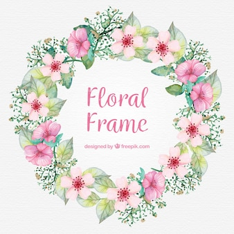 Fondo con marco floral