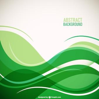 Fondo con onda verde