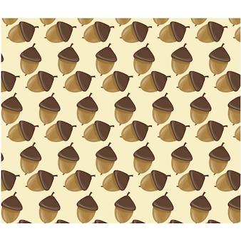 Fondo con patrón de bellotas