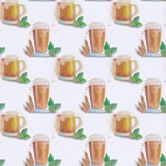 Fondo con patrón de café