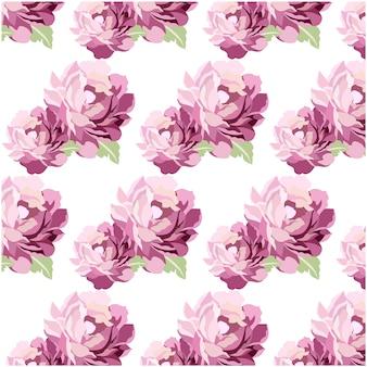 Fondo con patrón de flores en acuarela lila