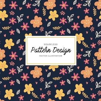 Fondo con patrón de flores multicolor
