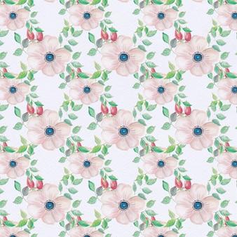 Fondo con patrón de flores rosas